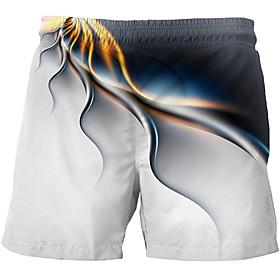 Men's Basic Slim Chinos Shorts Pants - Multi Color 3D Print White US32 / UK32 / EU40 / US34 / UK34 / EU42 / US36 / UK36 / EU44 / Drawstring