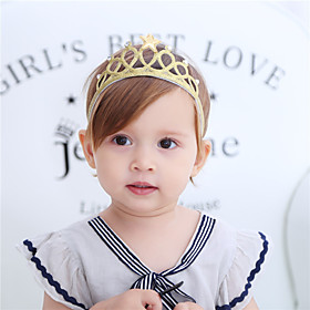 Fabric Headbands Durag Kids Bowknot Elasticity For New Baby Holiday Stylish Active Silver Gold