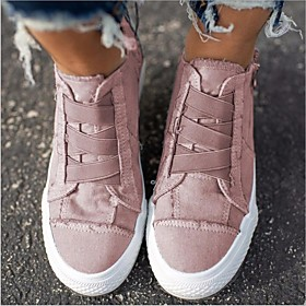 Women's Sneakers Flat Heel Closed Toe Canvas Summer Pink / Blue / White