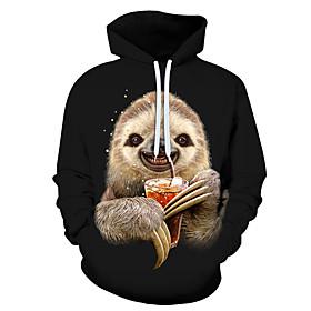 Men's Hoodie 3D Cartoon Character Hooded 3D Print Casual Hoodies Sweatshirts  Rainbow