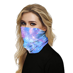 Unisex Party / Active / Basic Infinity Scarf - Galaxy / Print / Color Block