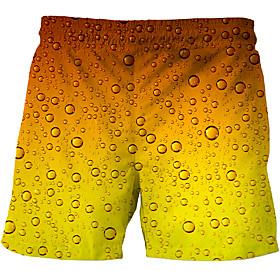 Men's Basic Slim Chinos Shorts Pants Multi Color 3D Print Orange US32 / UK32 / EU40 US34 / UK34 / EU42 US36 / UK36 / EU44 / Drawstring