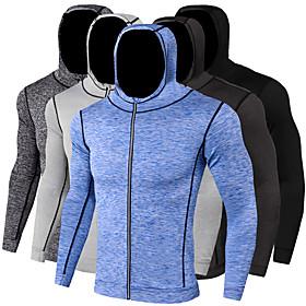 JACK CORDEE Men's Long Sleeve Running Track Jacket Hoodie Jacket Full Zip...