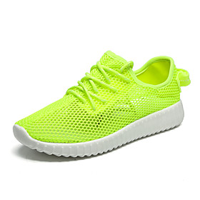 Women's / Unisex Trainers / Athletic Shoes 2020 Flat Heel Round Toe Mesh Sporty / Minimalism Cycling Shoes / Walking Shoes Summer / Spring  Summer Peach / Ligh