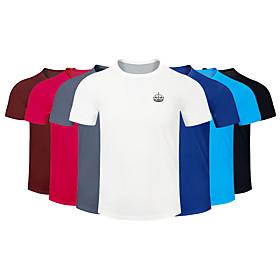 Men's Running T-Shirt Workout Shirt Round Neck Running Walking Jogging Breathable Quick Dry Moisture Wicking Sportswear Plus Size Tee / T-shirt Top Short Sleev