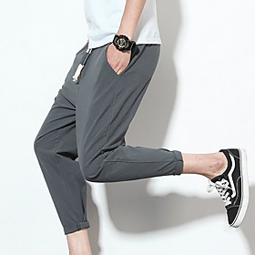 Men's Basic Loose Harem Sweatpants Pants Solid Colored White Black Red US32 / UK32 / EU40 US34 / UK34 / EU42 US36 / UK36 / EU44