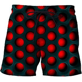 Men's Basic Slim Chinos Shorts Pants - Multi Color 3D Print White Blue Purple US32 / UK32 / EU40 / US34 / UK34 / EU42 / US36 / UK36 / EU44 / Drawstring