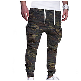 Men's Basic Loose Chinos Pants Camouflage Army Green US32 / UK32 / EU40 US34 / UK34 / EU42 US36 / UK36 / EU44