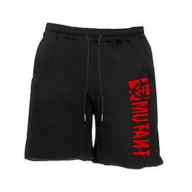 Men's Sporty Loose Shorts Pants - Print Cotton Red Yellow Army Green US32 / UK32 / EU40 / US34 / UK34 / EU42 / US36 / UK36 / EU44