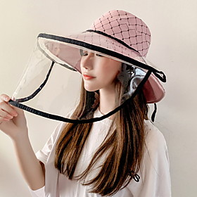 Women's Basic Polyester Protective Hat-Floral Print Fall Yellow Blushing Pink Khaki