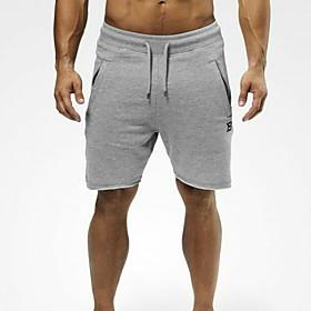 Men's Sporty Loose Shorts Pants - Print Black Dark Gray Gray US32 / UK32 / EU40 / US34 / UK34 / EU42 / US36 / UK36 / EU44