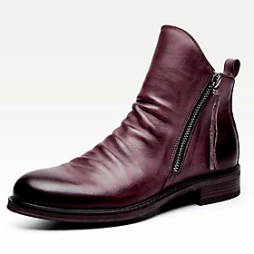 Men's Boots Work Boots Sporty Outdoor PU Black / Purple / Brown Fall  Winter