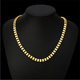 Men's Women's Chain Necklace Classic Flower Fashion Copper Gold Plated Gold 50 cm Necklace Jewelry 1pc For