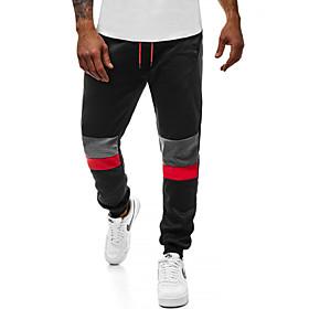 Men's Basic Skinny Cotton Jogger Pants Multi Color Drawstring Black Dark Gray Navy Blue US36 / UK36 / EU44 US38 / UK38 / EU46 US40 / UK40 / EU48