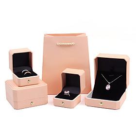 Square Jewelry Packaging - Light Pink, Sky Blue 4 cm 7.5 cm 5.5 cm / Women's