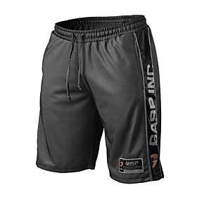 Men's Sporty Loose Shorts Pants - Print White Black Orange US32 / UK32 / EU40 / US34 / UK34 / EU42 / US36 / UK36 / EU44