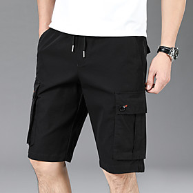 Men's Hiking Shorts Hiking Cargo Shorts Outdoor Breathable Quick Dry Stretchy Sweat-wicking Shorts Bottoms Hunting Fishing Climbing Grey Black M L XL XXL XXXL