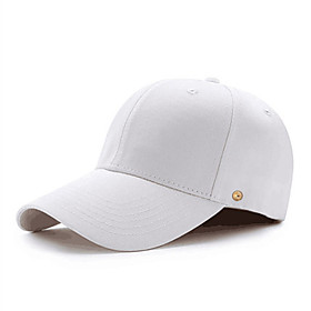 Men's Sun Hat PU Cotton Basic - Solid Colored All Seasons White Black Red