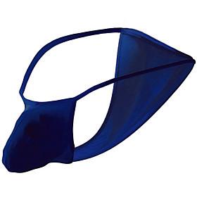Men's 1 Piece Basic Briefs Underwear - Normal Low Waist Light Blue Black Purple One-Size