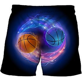 Men's Basic Slim Chinos Shorts Pants - Multi Color 3D Print Rainbow US32 / UK32 / EU40 / US34 / UK34 / EU42 / US36 / UK36 / EU44 / Drawstring