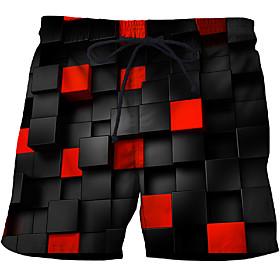Men's Basic Slim Chinos Shorts Pants Multi Color 3D Print White Blue Purple US32 / UK32 / EU40 US34 / UK34 / EU42 US36 / UK36 / EU44 / Drawstring