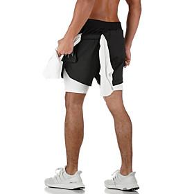 Men's Sporty Loose Shorts Pants - Camouflage White Black US32 / UK32 / EU40 / US34 / UK34 / EU42 / US36 / UK36 / EU44