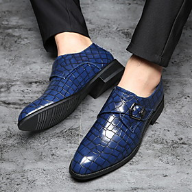 Men's Loafers  Slip-Ons Classic Daily PU Black / Yellow / Blue Spring  Summer