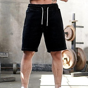 Men's Sporty Loose Shorts Pants - Print Black Dark Gray Beige US32 / UK32 / EU40 / US34 / UK34 / EU42 / US36 / UK36 / EU44