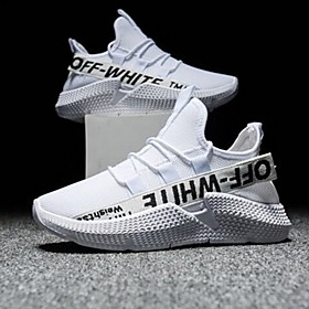 Men's Mesh Spring  Summer Classic Athletic Shoes Running Shoes White / Black Category:Trainers / Athletic Shoes; Upper Materials:Mesh; Season:Spring  Summer; Gender:Men's; Activity:Running Shoes; Style:Classic; Occasion:Daily; Shipping Weight:1.0; Listing Date:04/16/2020; Foot Length:; Size chart date source:Provided by Supplier.