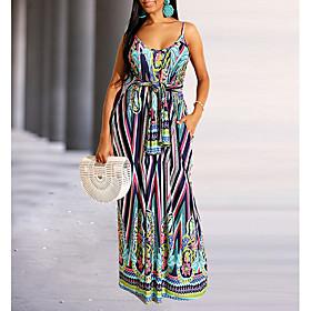 Women's Mini Sheath Dress - Short Sleeves Striped Summer Strap Elegant Slim 2020 Blue S M L XL XXL