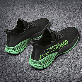 Men's Summer Sporty / Casual Daily Outdoor Trainers / Athletic Shoes Running Shoes / Walking Shoes Knit Breathable Non-slipping Wear Proof Black / Beige