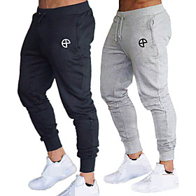 Men's High Waist Jogger Pants Joggers Running Pants Track Pants Sports Pants 1pc Drawstring Sports Bottoms Running Walking Jogging Training Breathable Moisture
