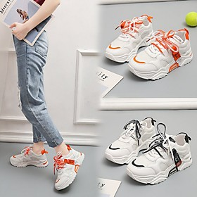 Women's Trainers / Athletic Shoes Summer Flat Heel Round Toe Daily Mesh Black / Orange