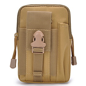 Men's Bags Nylon Fanny Pack Zipper Snakeskin for Daily Black / Army Green / Orange / Khaki