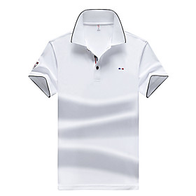 Men's Solid Colored Black Polo Basic Daily Work White / Blue / Red / Yellow / Royal Blue / Light Blue
