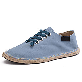Men's / Unisex Fall Casual / Preppy Daily Outdoor Sneakers Walking Shoes Canvas Breathable Non-slipping Wear Proof Black / Beige / Light Blue