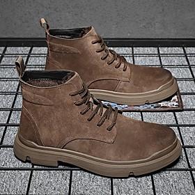 Men's Summer Outdoor Sandals PU Non-slipping Khaki / Brown