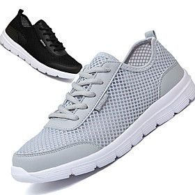 Men's Summer Outdoor Trainers / Athletic Shoes Mesh Breathable Black / Light Grey / Blue