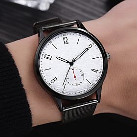 Men's Dress Watch Quartz Formal Style Modern Style Black / Silver / Gold Casual Watch Analog Casual Fashion - Gold Silver Black One Year Battery Life