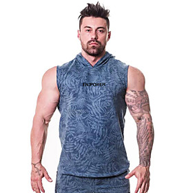 Men's Running Tank Top Hoodie Sweatshirt Hoodie Pullover Active Training Fitness Jogging Breathable Quick Dry Soft Sportswear Top Sleeveless Activewear Micro-e