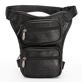 Men's Bags PU Leather Fanny Pack Zipper for Daily / Outdoor Black / Brown