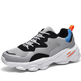 Men's Summer / Fall Casual / British Athletic Daily Trainers / Athletic Shoes Running Shoes / Walking Shoes Mesh / PU Black / Beige / Gray