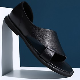 Men's Summer Outdoor Sandals PU Non-slipping Black