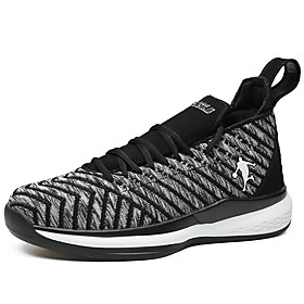 Men's Fall Sporty / Casual Daily Outdoor Trainers / Athletic Shoes Running Shoes / Walking Shoes Tissage Volant Breathable Non-slipping Shock Absorbing Black /