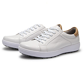 Men's Boys' Golf Shoes Waterproof Lightweight Breathable Anti-Slip Golf Outdoor Exercise Spring Summer Fall White