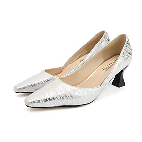 Women's Heels Summer Pumps Pointed Toe Sexy Daily Outdoor PU Blue / Gray / Silver