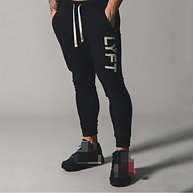 Men's Jogger Pants Joggers Running Pants Track Pants Sports Pants 1pc Drawstring Cotton Sports Bottoms Running Walking Jogging Training Breathable Moisture Wic