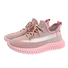 Women's Trainers / Athletic Shoes Spring   Fall / Spring  Summer Flat Heel Round Toe Sporty Daily Outdoor Tissage Volant Light Brown / Yellow / Pink