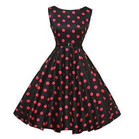 Women's A Line Dress - Sleeveless Floral Summer Elegant 2020 Black S M L XL XXL