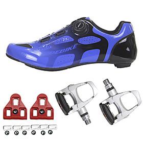 SIDEBIKE Adults' Bike Shoes Carbon Fiber Breathable Reflective Strips Road Cycling Cycling / Bike Recreational Cycling Bule / Black Men's Women's Cycling Shoes